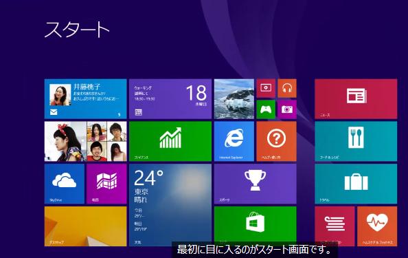 windows8.1,スタート画面